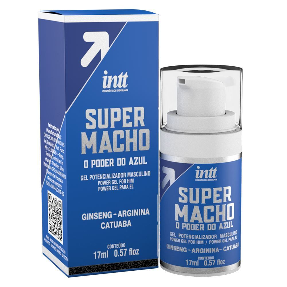 Gel Excitante Masculino Super Macho - Potencializador de Macho - 17ml
