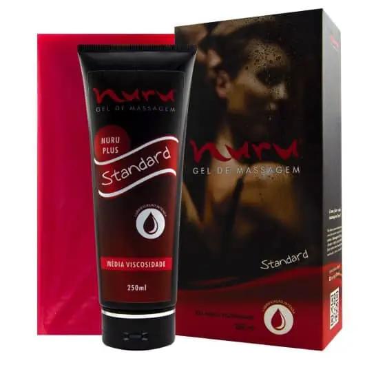 Lubrificante Hidratante para Massagem e Fisting + Toalha Descartável - Nuru Standart - 250ml