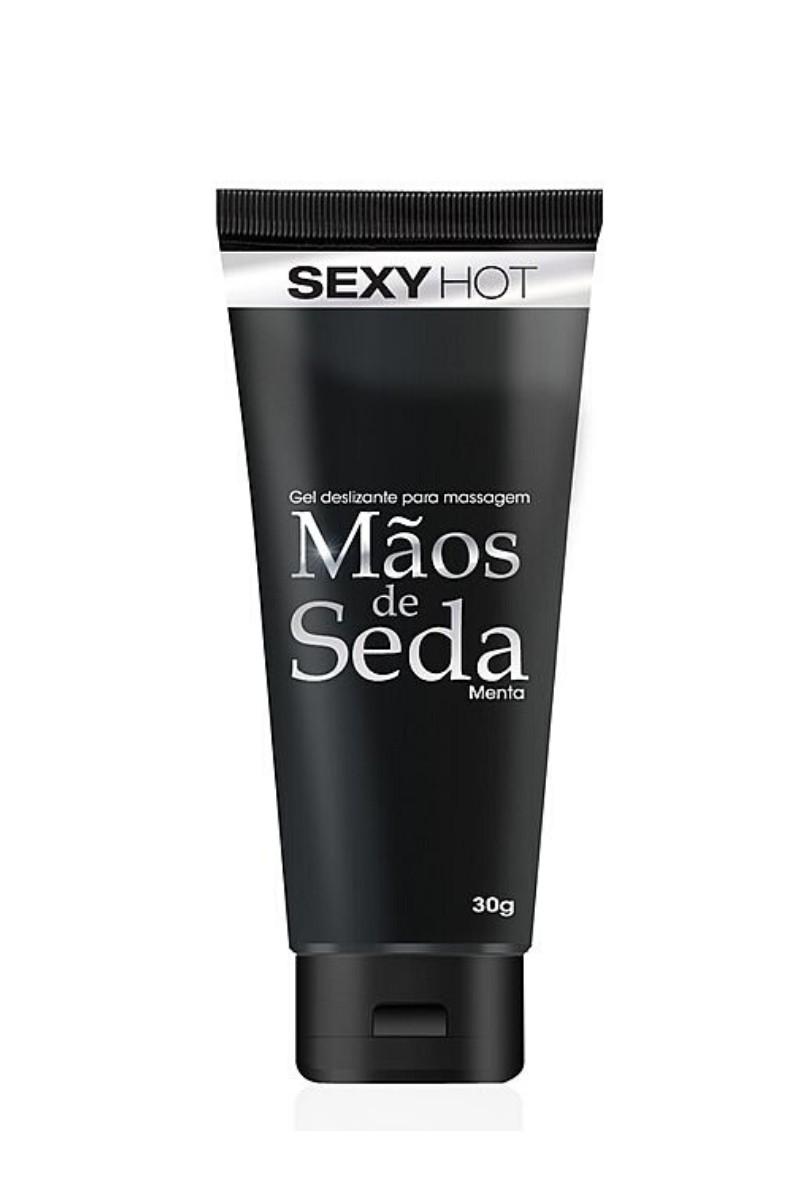 Gel Siliconado para Masturbação com Aroma de Menta - Mãos de Seda - 30g