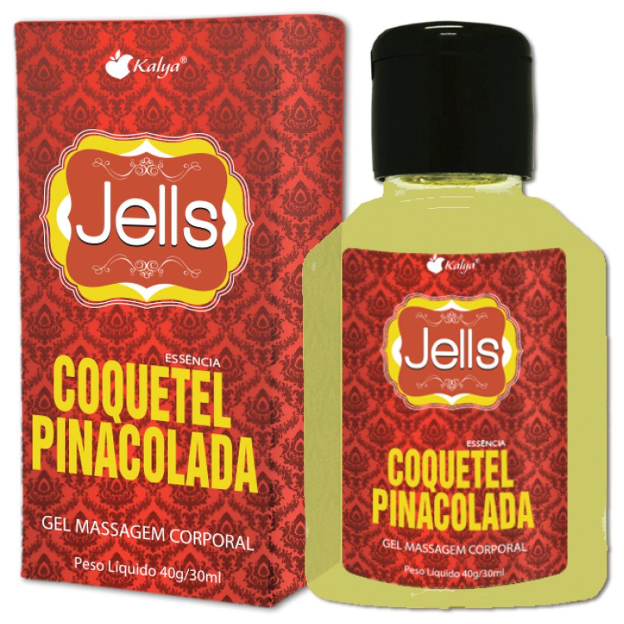 Jells Beijável com Sabor de Pina Colada e Efeito Quente - 30ml
