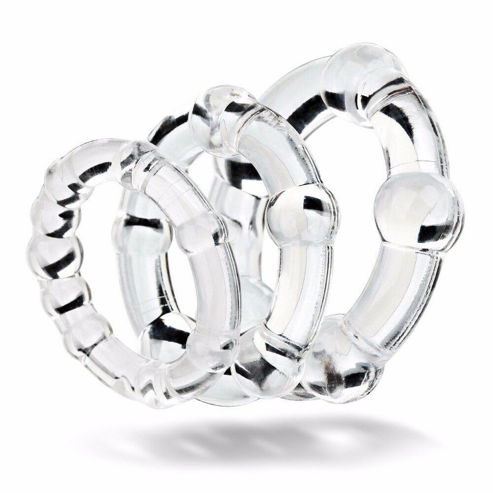 Kit com 3 Anéis Penianos em Silicone - Transparente