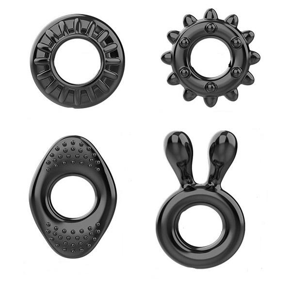 Kit com 4 Anéis Penianos em Formatos Diferentes