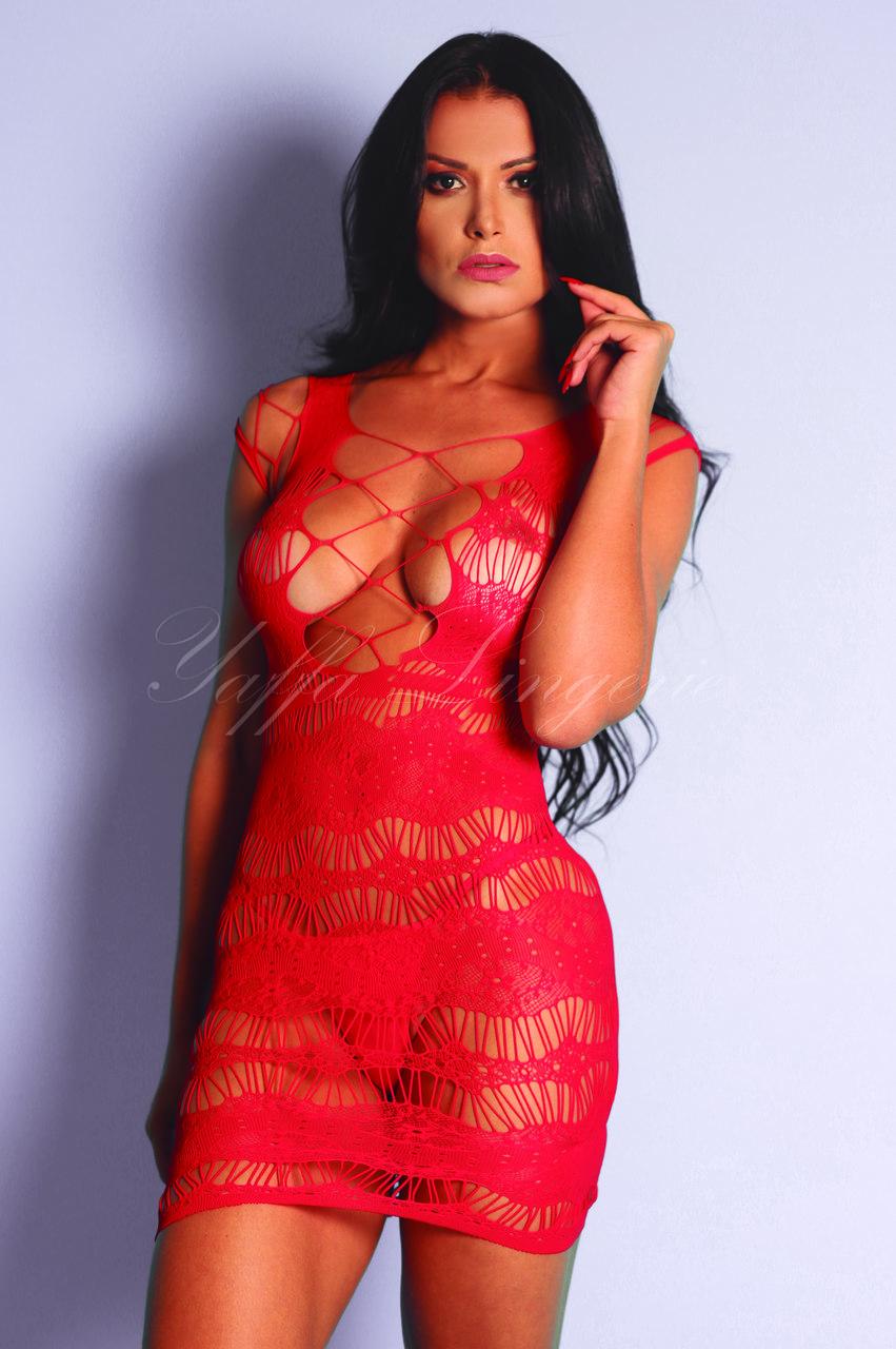 Mini Vestido com Recortes no Busto - Y4075