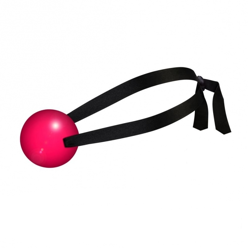 Mordaça em Formato de Bola com Alça Acetinada - Cores