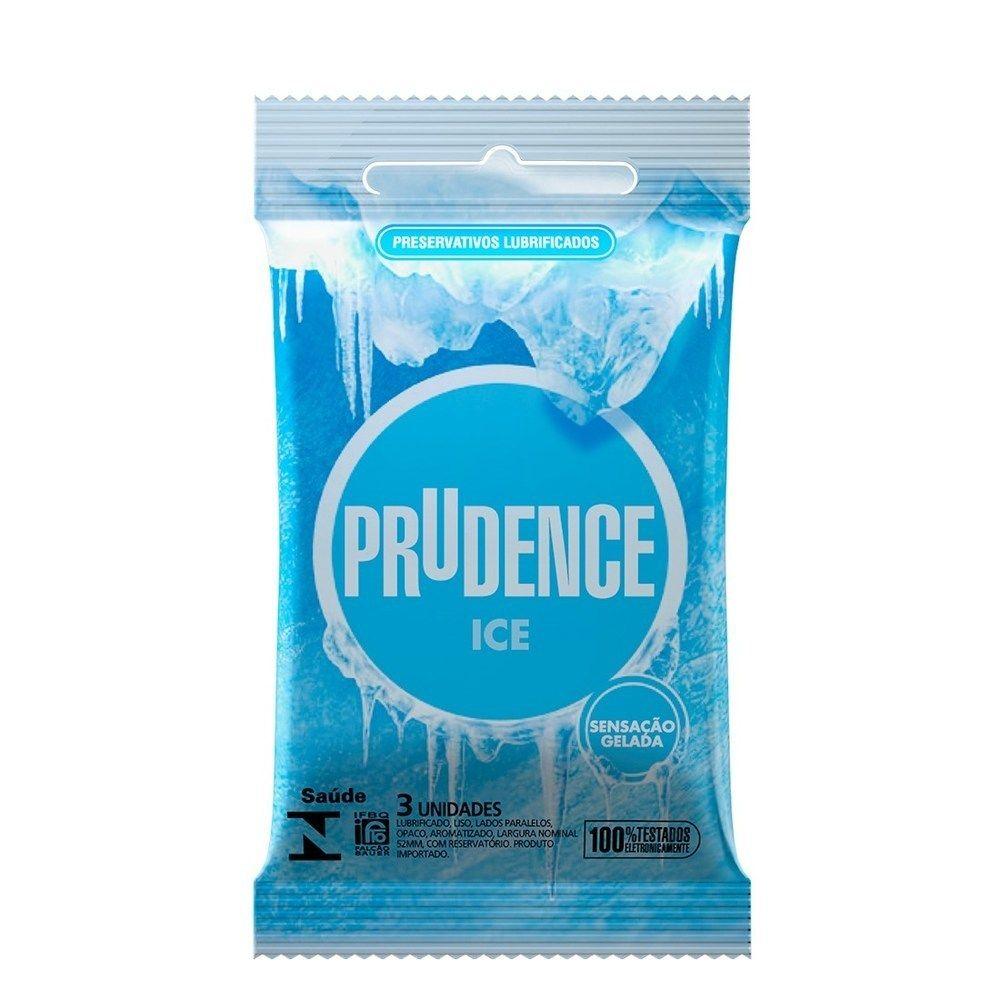 Preservativo Prudence Ice Gelada C/ 3uni