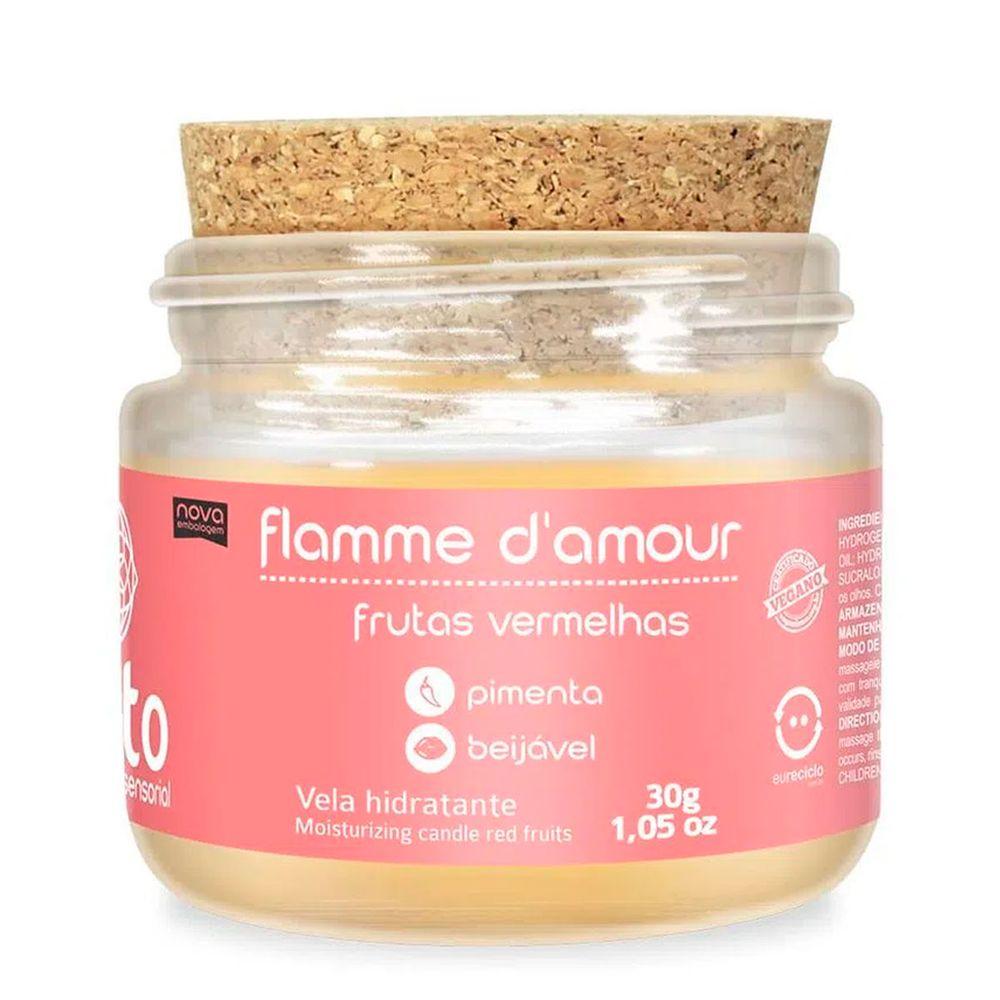Vela de Massagem Beijável - Flamme D'amour - Frutas Vermelhas - 30g