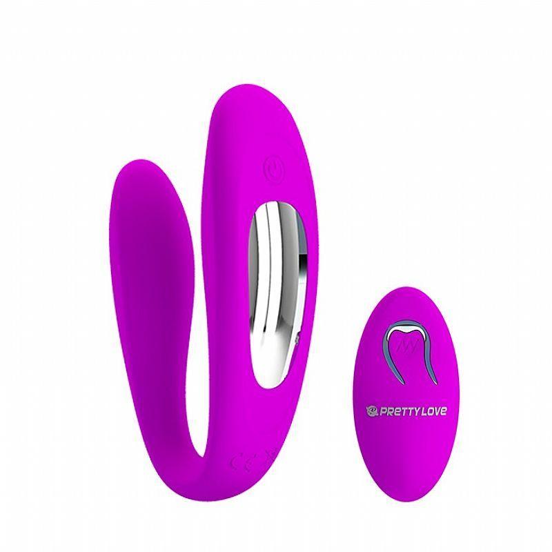 Vibrador de Casal com 12 Modos de Vibração e Controle Remoto - Letitia - Magenta