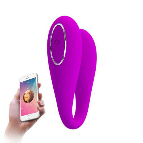 Vibrador de Casal com 12 Modos de Vibração e Controle Via Aplicativo/Bluetooth - August - Magenta