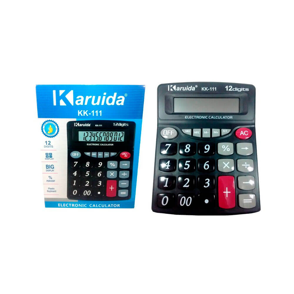 Calculadora Eletrônica 12 Dígitos KK-111