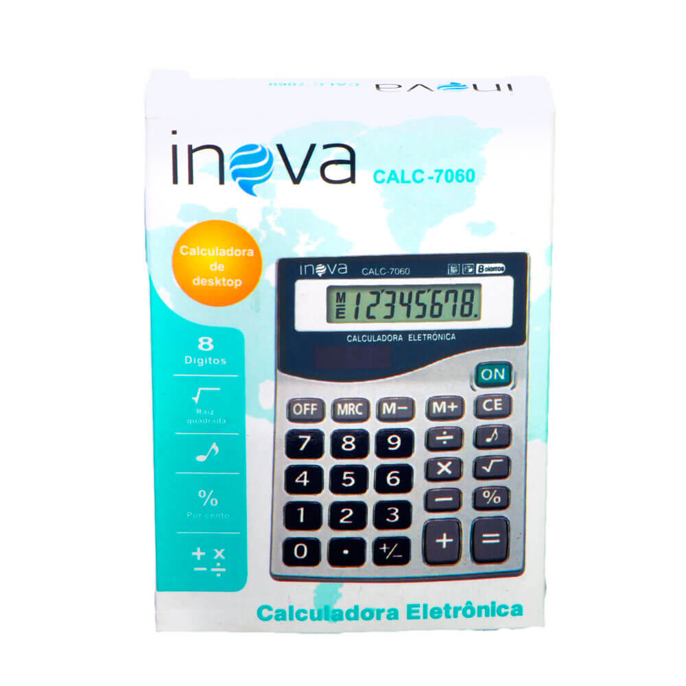 Calculadora Eletrônica CALC-7060 Inova