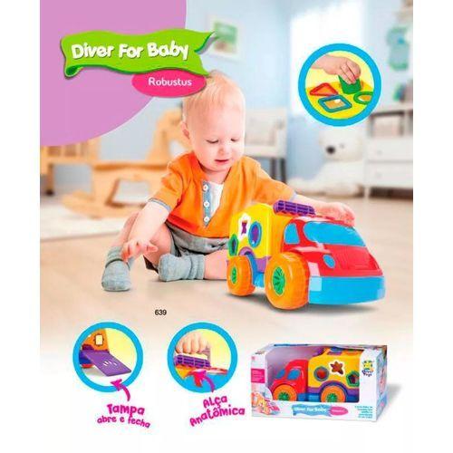 CAMINHÃO DIVER FOR BABY ROBUST DIVER TOYS