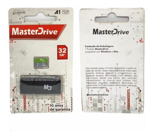 Cartão de Memória 32GB com Adaptador MasterDrive