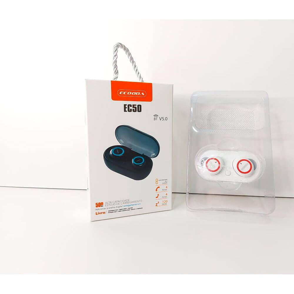Fone de Ouvido EarPods Bluetooth EC50 Ecooda