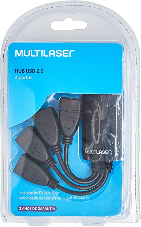 Hub USB 2.0 4 Portas AC042 Multilaser