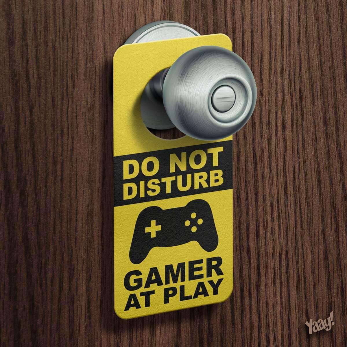 Kit Gamer 2 Mouse Pad e Aviso de Porta