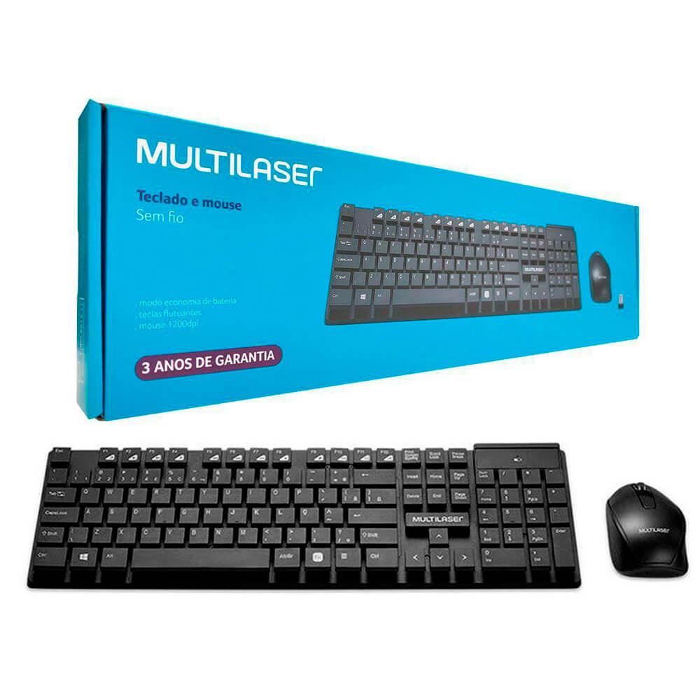 Kit Teclado e Mouse Sem Fio TC251 Multilaser