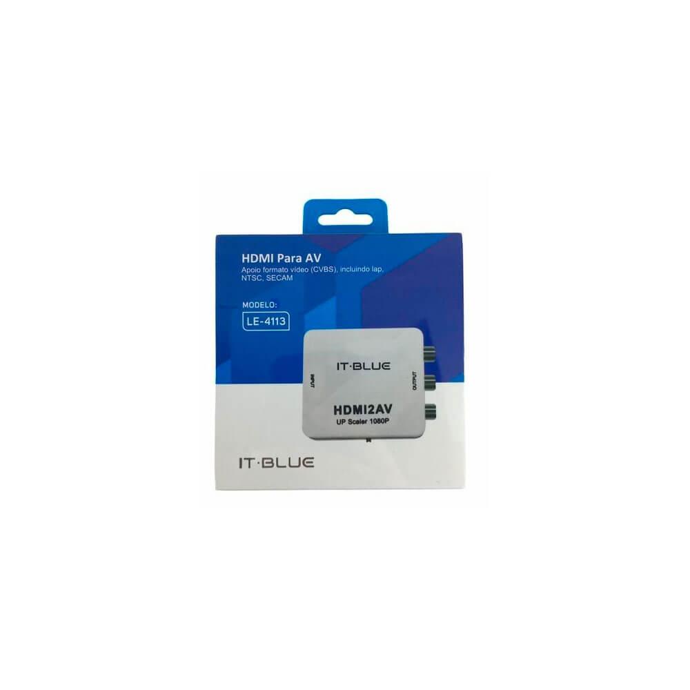 Mini Conversor HDMI x AV LE-4113 It.Blue