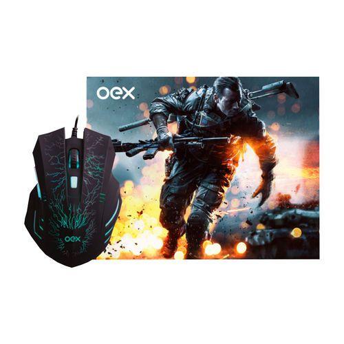 Mouse e MousePad MC101 Combo Stage - Oex