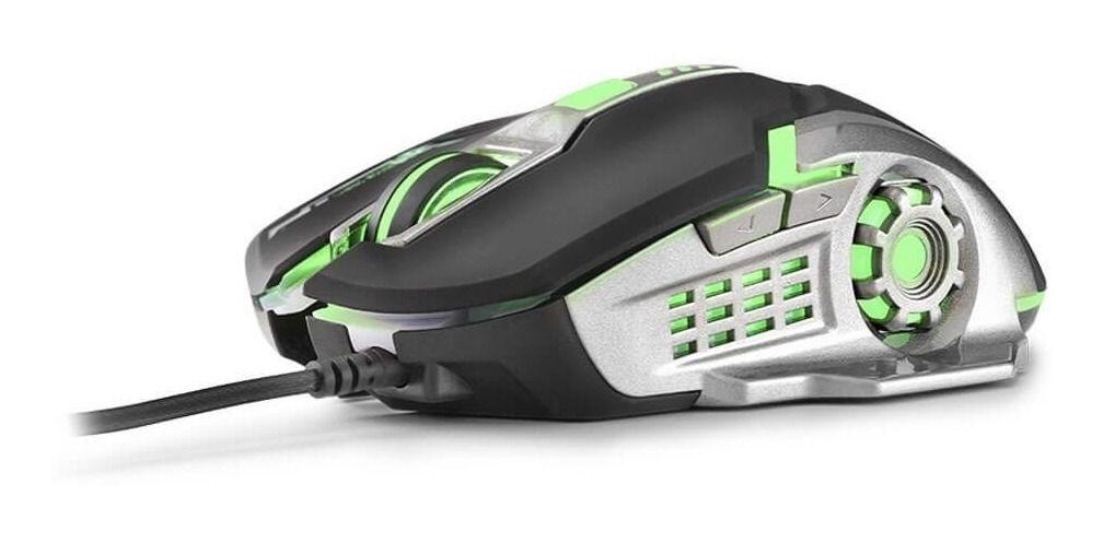 Mouse Gamer 2400DPI MO269 Preto e grafite com Led Multilaser