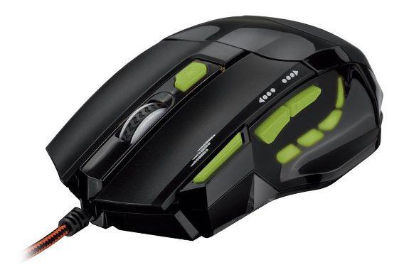 Mouse Gamer Led Verde 2000DPI MO208