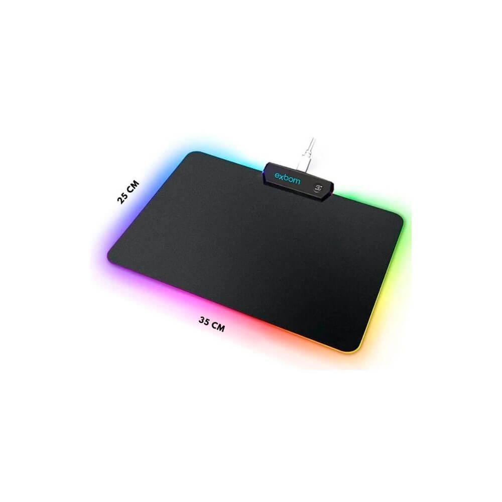 Mouse Pad Com Led Colorido MP-LED2535 Exbom