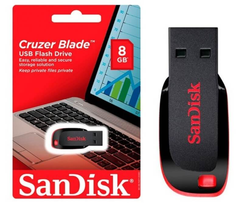 Pendrive Cruzer Blade 8GB Sandisk