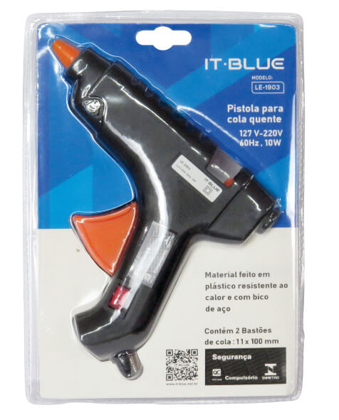 Pistola Para Cola Quente LE-1903 It Blue