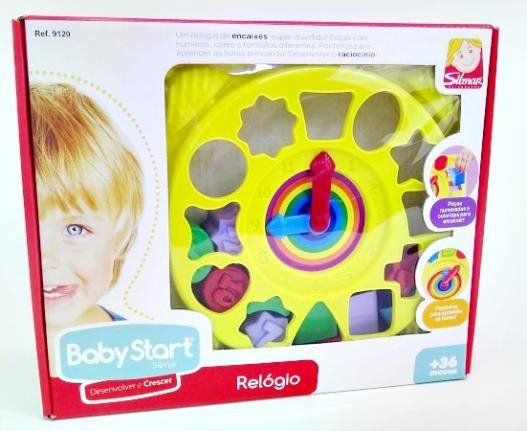 RELÓGIO EDUCATIVO BABY START 9120 SILMAR
