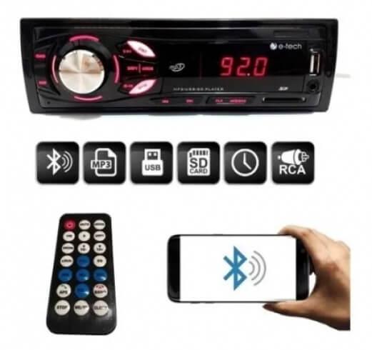 Som Automotivo Bluetooth E-Tech