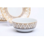 Aparelho de Jantar 18PÇS Porcelana Super White Bambu