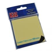 Bloco de recado auto amarelo - Kaz