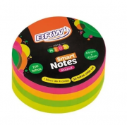 Bloco adesivo smart notes round neon - BRW
