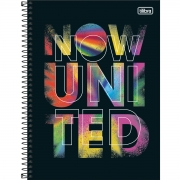 Caderno Universitário 16 Matérias Now United - Tilibra