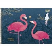 Caderno de Cartografia Desenho Aloha Flamingo - Tilibra