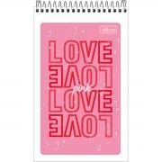 Caderneta Espiral Capa Flexível Love Pink 60 Folhas - Tilibra