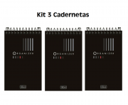 Kit 3 Cadernetas Espiral AA Organizer 60 Folhas - Tilibra