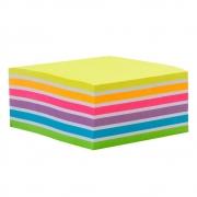 Bloco de Adesivo Cubo Arco Iris 76x76mm 400 Fls - Maxprint