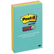 Bloco Post-It® 3M 101x152 mm - 3 Cores c/135 Fls