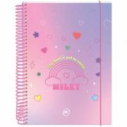 Caderno Colegial Milky Rosa 10 Matérias - DAC