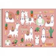 Caderno de Cartografia Desenho Hello Lhama - Tilibra