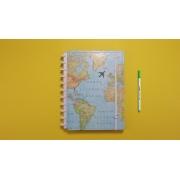 Caderno Inteligente By Gocase Mapa Mundi - Grande