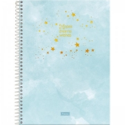 Caderno Universitário Tie Dye 10 matérias - FORONI