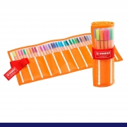 Caneta STABILO Point 88 Estojo c/ 30 cores - Rollerset