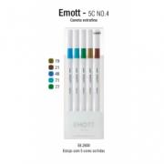 Caneta Uni-ball Emott Fine 0.4 05 Cores Nº 07