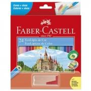 Lápis de cor Faber-Castell C/24 Cores + Apontador