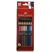 Lápis de cor Metallic c/ 10 Cores -  FABER-CASTELL