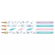 Lápis Preto Marshmallow Com 4 Unidades - Faber Castell