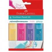 Marca Texto Textliner 46 Pastel FABER-CASTELL Estojo c/ 4 Cores