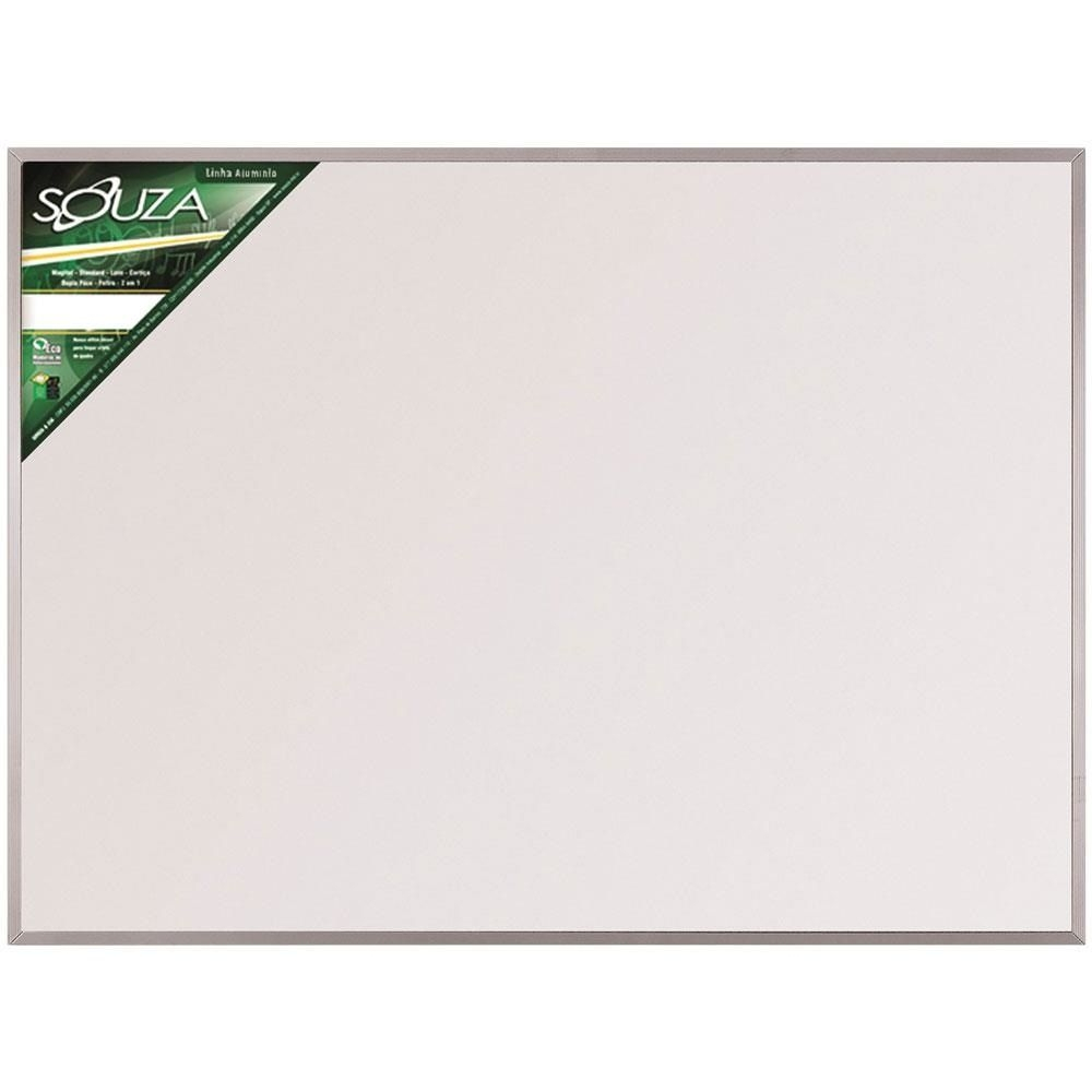 Lousa Branca 70x50 Com Base de Alumínio - Souza