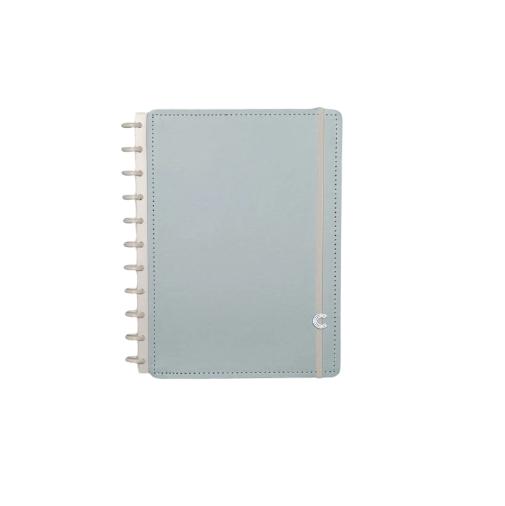 Caderno Inteligente Azul Pastel Grande - Caderno Inteligente